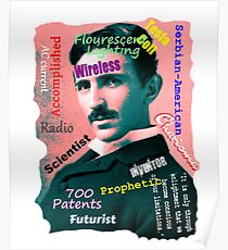 Tesla in Text Poster