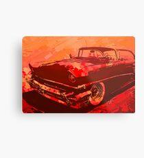 1956 Mercury Custom Pop Red Metal Print