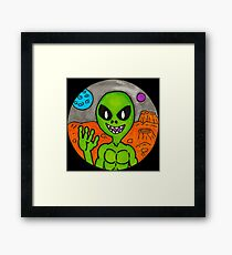 Hello from Mars Framed Print