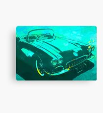 1960 Corvette Pop Turquoise Canvas Print
