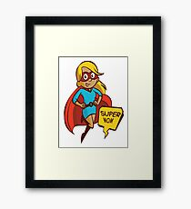 SUPER MOM Pop Art Framed Print
