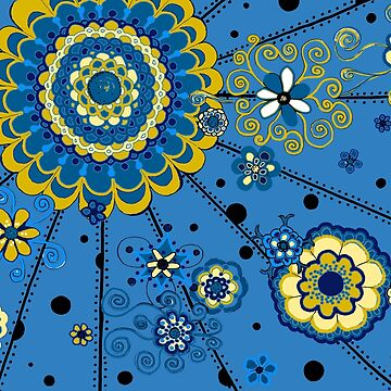 Yellow and Blue Mandala by CTWuellner