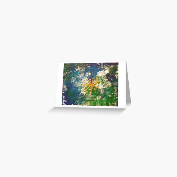 Tiny Burst of Beauty Abstract6 Greeting Card