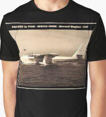 SPRUCE GOOSE : Vintage 1947 Howard Hughes Plane Print Graphic T-Shirt