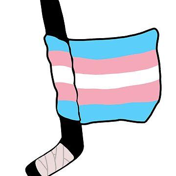 bandera de hockey orgullo trans de charliecross