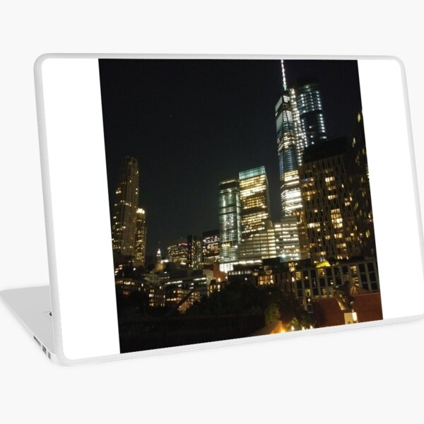 Manhattan, #Manhattan, New York, #NewYork, NYC, #NYC, New York City, #NewYorkCity Laptop Skin