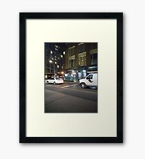 Van, #Van, Manhattan, #Manhattan, New York, #NewYork, NYC, #NYC, New York City, #NewYorkCity Framed Print