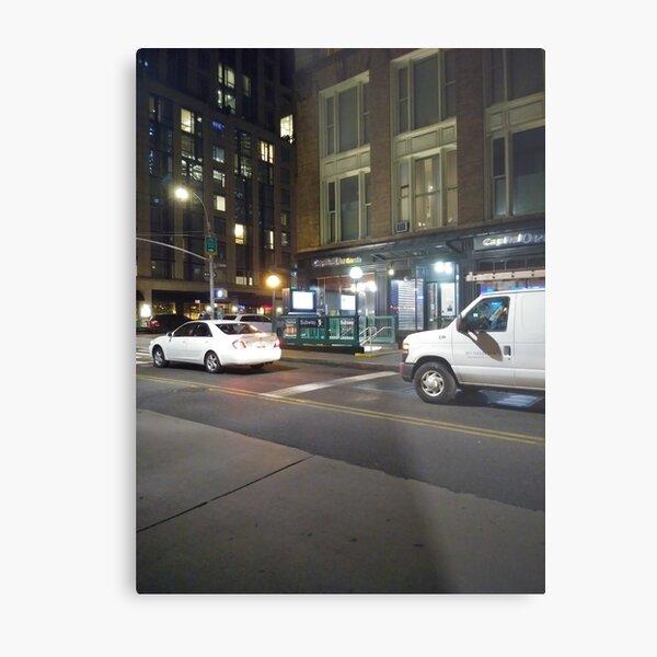 Van, #Van, Manhattan, #Manhattan, New York, #NewYork, NYC, #NYC, New York City, #NewYorkCity Metal Print