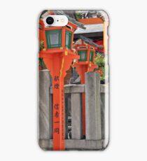 Orange Lanterns And Stone Fence iPhone Case/Skin