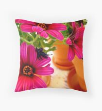 Pretty In Pots Throw Pillow