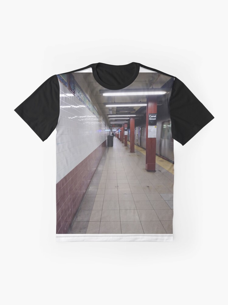 Alternate view of Metro station, #MetroStation, Manhattan, #Manhattan, New York, #NewYork, NYC, #NYC, New York City, #NewYorkCity Graphic T-Shirt