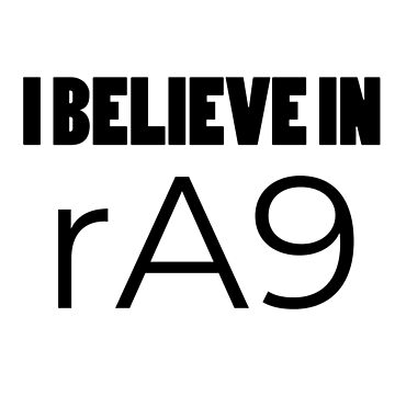 I Believe in rA9 by Sidewalk
