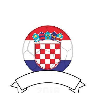 Croatia Soccer 2018 Croatian Emblem Soccer Ball Croatian Flag Soccer Player World Cup Soccer Croatia by ginzburgpress
