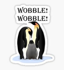 Wobbly Penguins Sticker