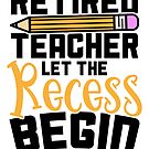Savvy Turtle Gift for Teachers Let Recess Begin by SavvyTurtle
