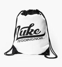I'm Going Now Drawstring Bag