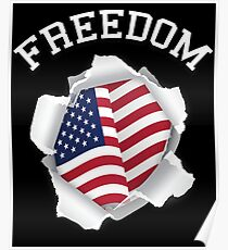 Freedom American Flag 4th of July Independence Day  Poster