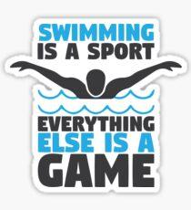 Swimming is a Sport Sticker