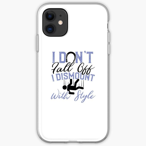 Savvy Turtle Funny Horse Riding for Women Dismount with Style iPhone Soft Case