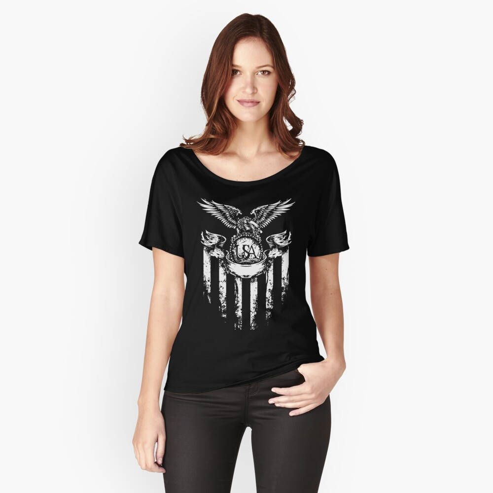USA Eagle Women's Relaxed Fit T-Shirt Front