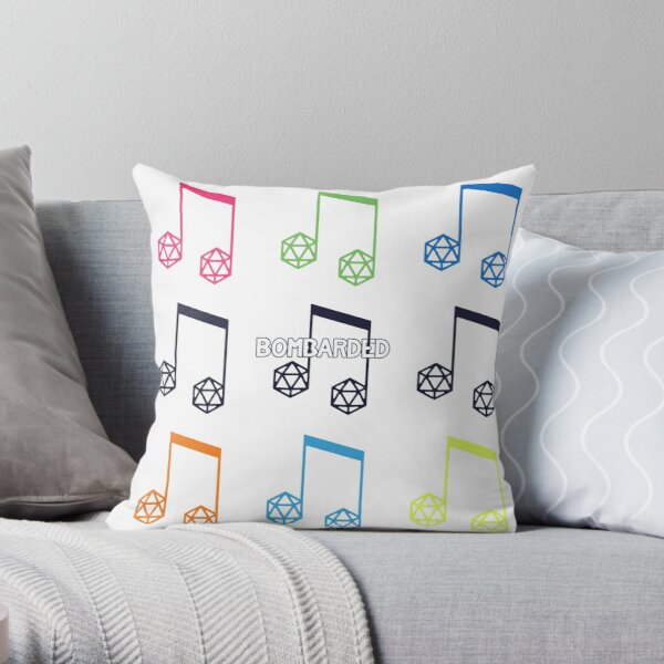 bomBARDed Color Logos Throw Pillow