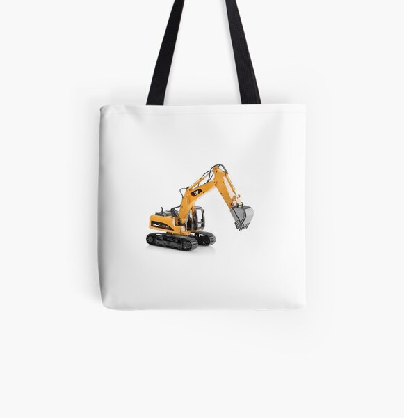 Excavator All Over Print Tote Bag
