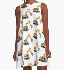 Excavator A-Line Dress