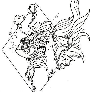 Tattoo Fish  by Redhead-K