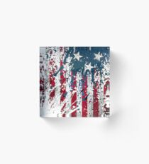 American Flag Cool USA Souvenir Acrylic Block