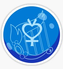 Sailor Mercury Crystal Power Sticker