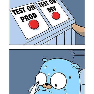 Golang Gopher Two Buttons by clgtart