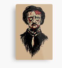 Edgar Allan Poe Zombie Metal Print