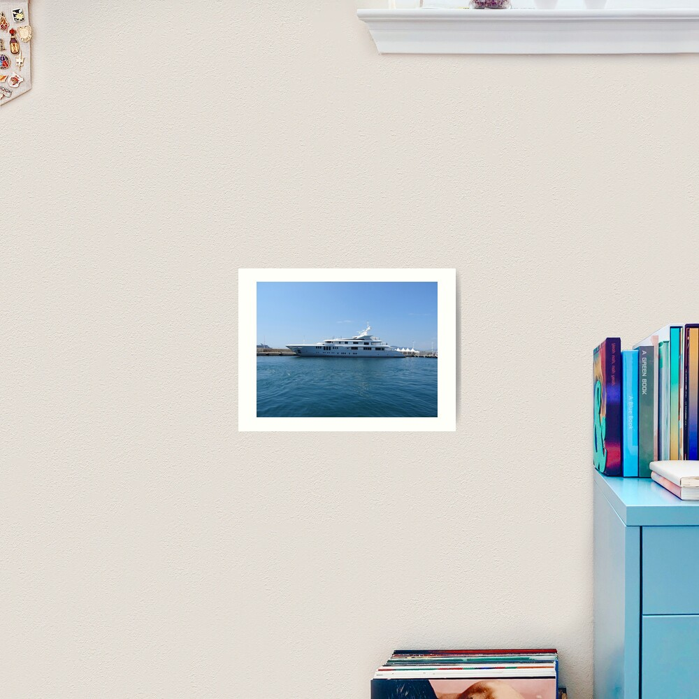 Cannes Luxury Yacht tranquil Mediterranean retreat Art Print