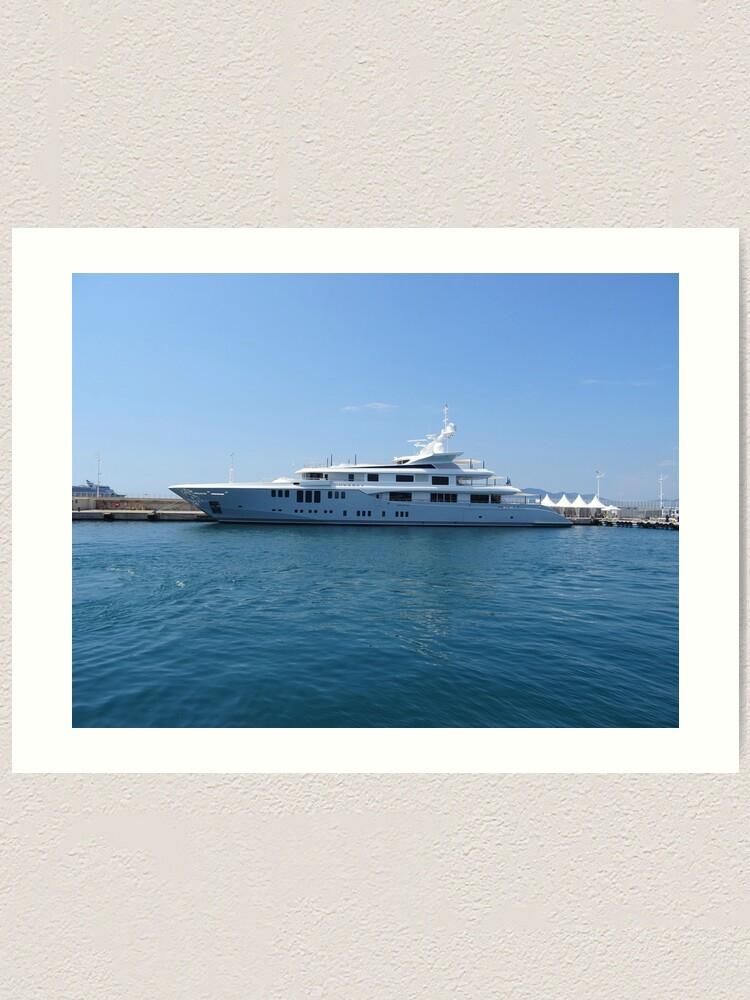 Alternate view of Cannes Luxury Yacht tranquil Mediterranean retreat Art Print
