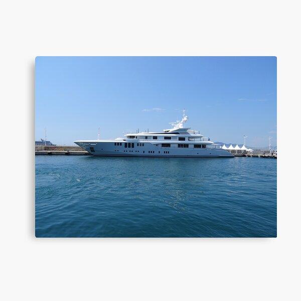 Cannes Luxury Yacht tranquil Mediterranean retreat Canvas Print