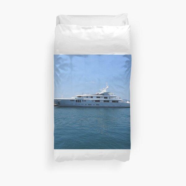 Cannes Luxury Yacht tranquil Mediterranean retreat Duvet Cover