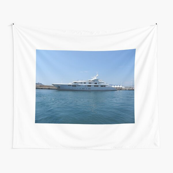 Cannes Luxury Yacht tranquil Mediterranean retreat Tapestry