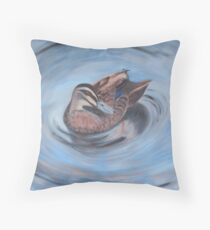 Tweed River Duck Throw Pillow