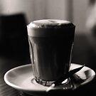 late night latte (b&w film) by deborah brandon