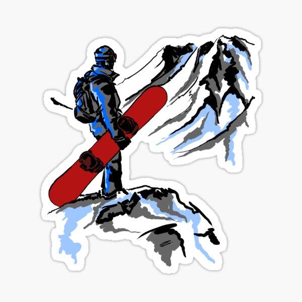 Snowboarding Sticker