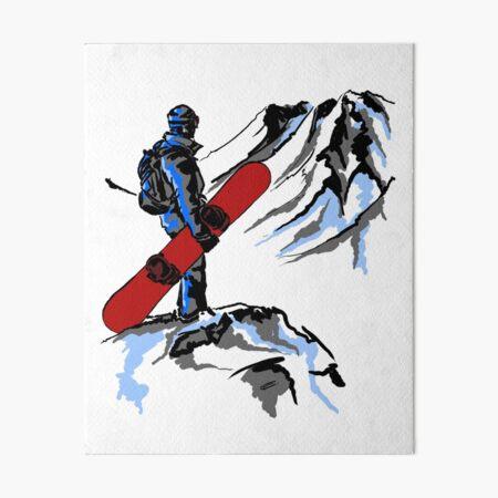 Snowboarding Art Board Print