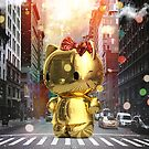 Gold Kitty in New York City by Vin  Zzep