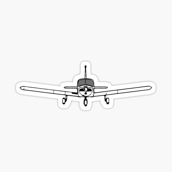 Piper Cherokee - single-engine general aviation airplane Sticker