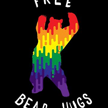 Free Bear Hugs Pride Shirt Gay Pride March LGBTQ Funny by japdua