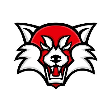 Angry Red Panda Head Mascot by patrimonio