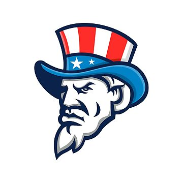 Uncle Sam Wearing USA Top Hat Mascot by patrimonio