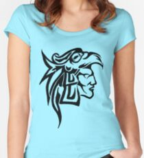 Aztec Eagle Warrior Women's Fitted Scoop T-Shirt