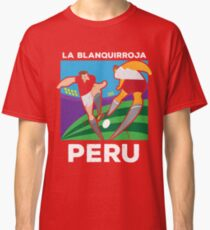 61a94bbb6 Classic Peru Poster World Soccer Cup 2018 Russia Piruw Team Jersey Classic  T-Shirt