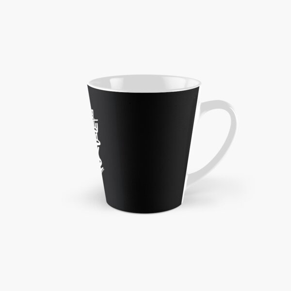 Writing in Humanity Distilled into Ink - White Text Version Tall Mug