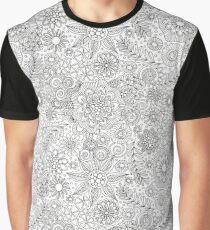 Black and White Doodle Art Graphic T-Shirt